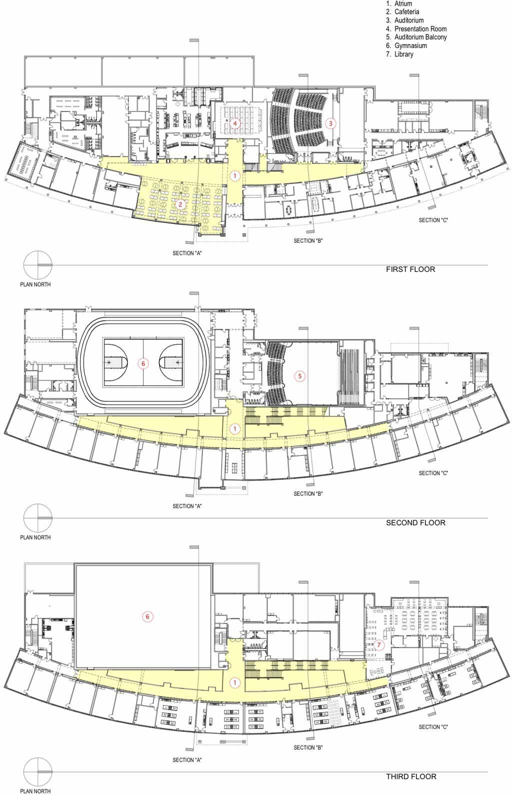 High School Building Design High School Floor Plan Designs